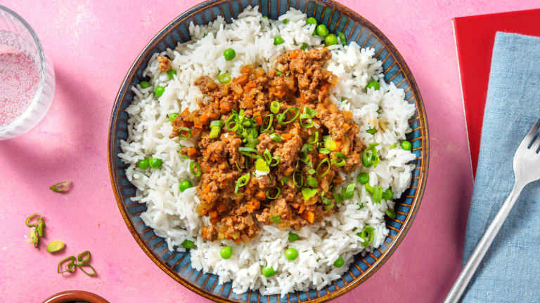 Jamaican Curry Beef Bowl