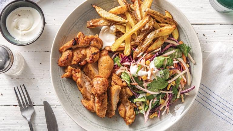 Jerk Chicken Thigh & Chips