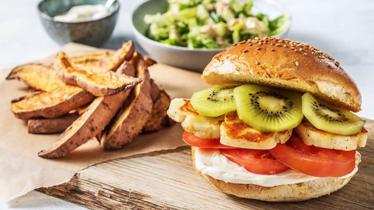 Kiwi-Halloumi-Burger
