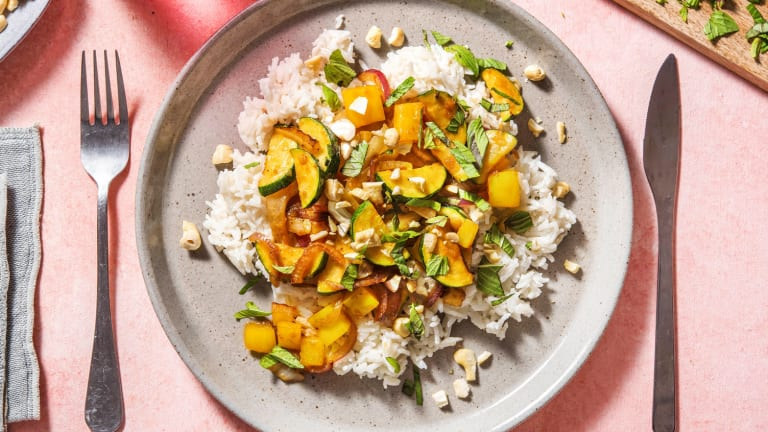 Knackige Gemüsepfanne mit Fenchel