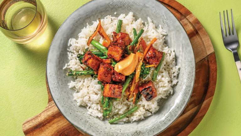Korean Tofu Rice Bowl