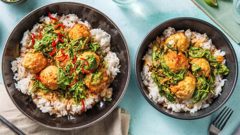 Kycklingbullar med currysås