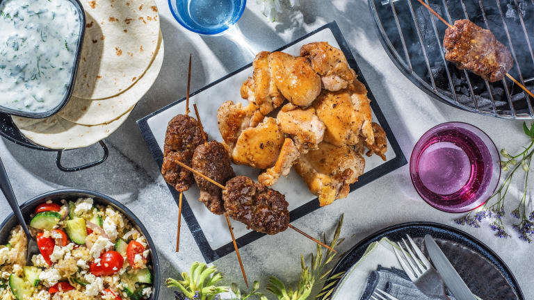 Lamb Koftas and Honey Lemon Chicken