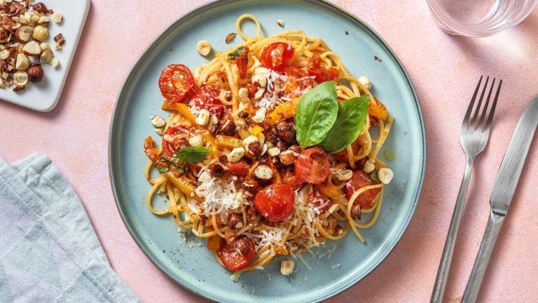 Linguine et duo de tomates