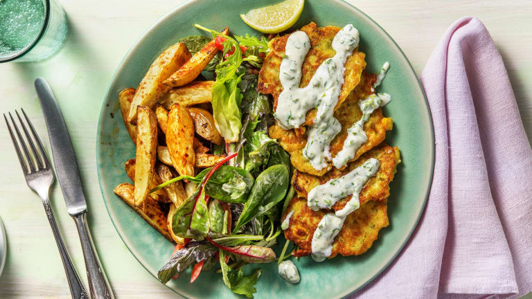 Maisbratlinge mit mexikanischem Salat