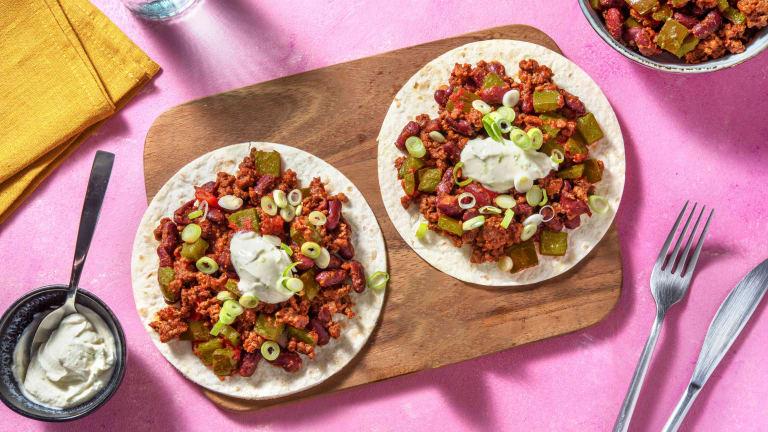 Mexican Spiced Beef Tostadas Rapidas