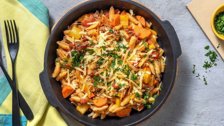 Mexican Style Beef Pasta!