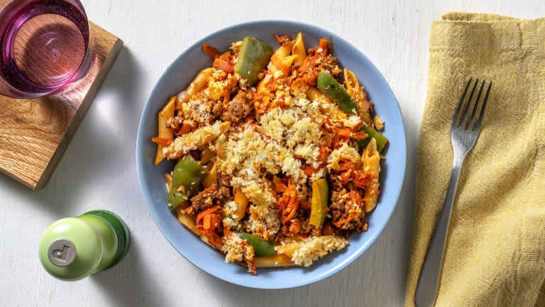 Mexican Style Beef Pasta Bake