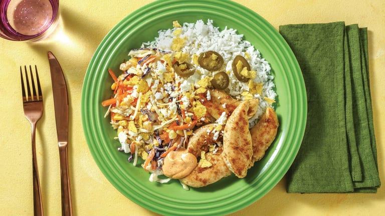 Mexican-Style Chicken with Creamy Slaw & Smokey Aioli