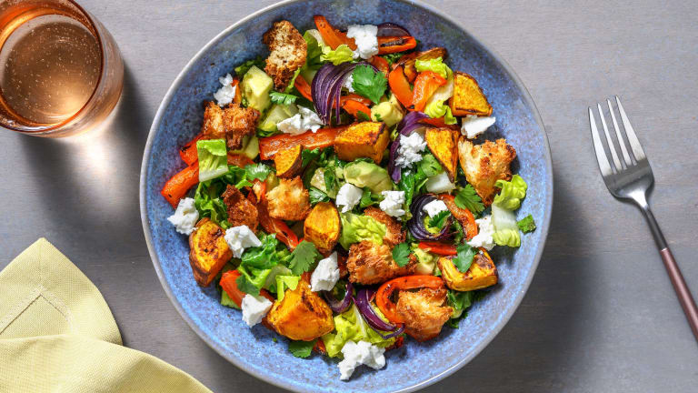 Mexican Style Roasted Sweet Potato Salad