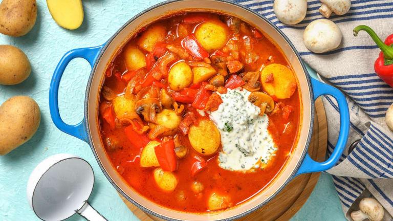 Chorizo-aardappelstoof met spekjes