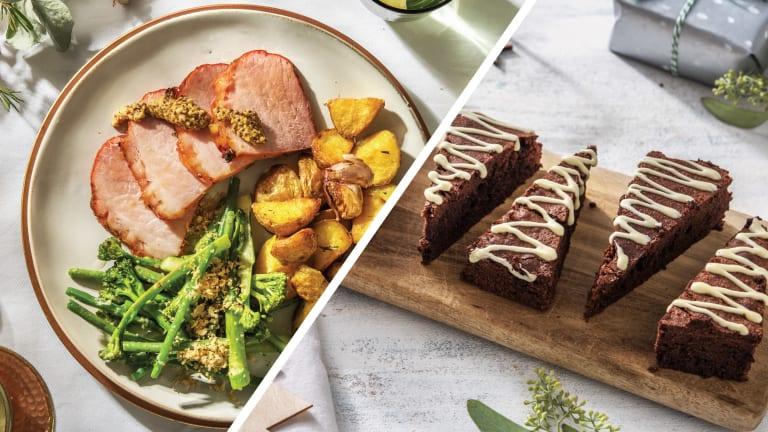 Mini Christmas Ham & Sides