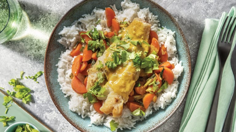 Pan-Seared Fish & North Indian Coconut Sauce