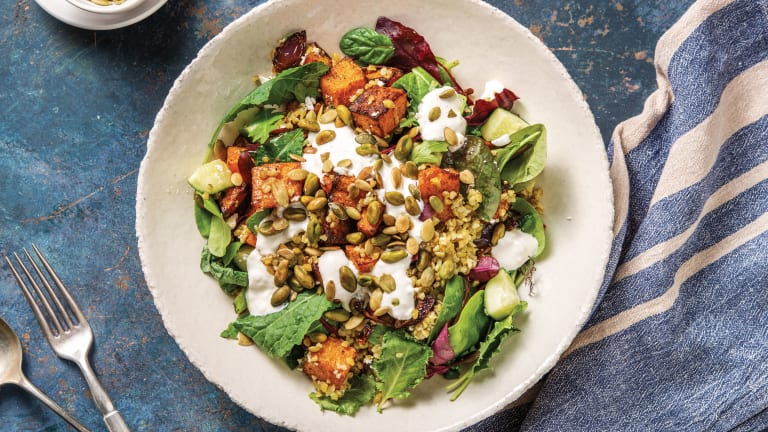 North African Spiced Pumpkin & Freekeh Bowl