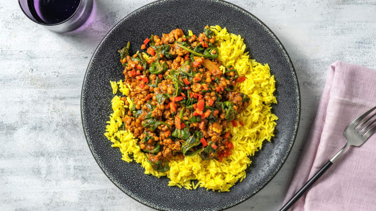North Indian Style Lamb and Lentil Curry
