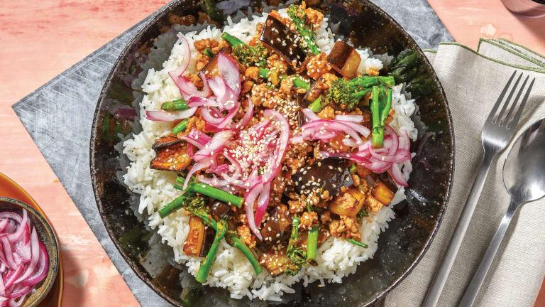 Sticky Chinese Pork & Eggplant