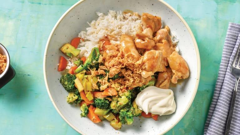 Sweet Miso-Glazed Chicken & Sesame Rice