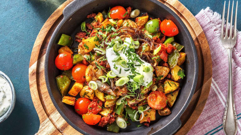 One-Pan Chorizo Hash