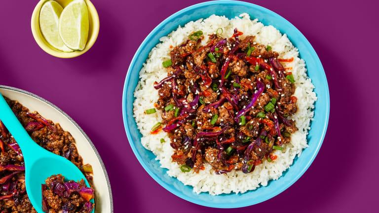 One-Pan Moo Shu Pork Bowls