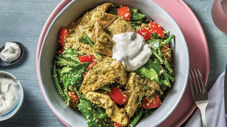 One-Pan Pesto Chicken & Veggie Couscous