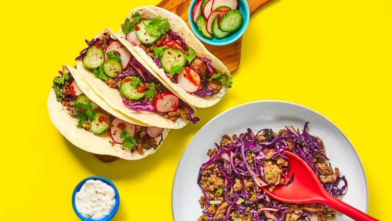 One-Pan Sesame Beef Tacos