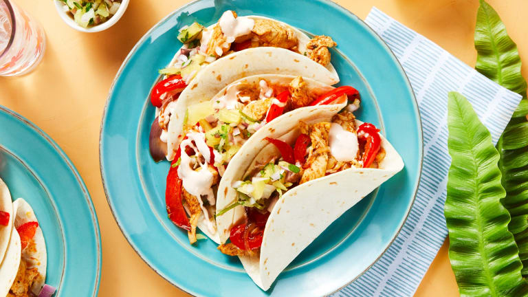 One-Pan Tropical Chicken Tacos