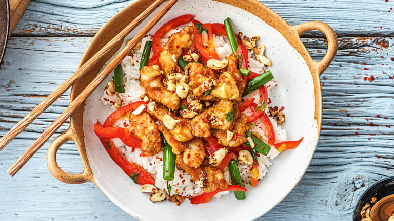 Orange and Cashew Chicken Stir-Fry