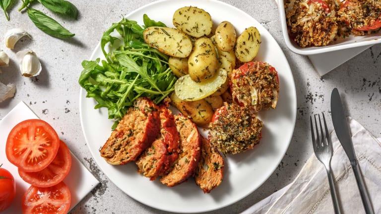 Zuiders gehaktbroodje met geroosterde tomaten