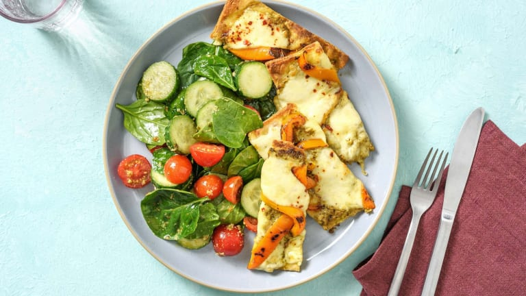 Spring Pesto Mozzarella Flatbread