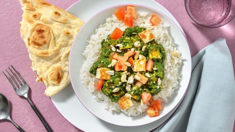 Palak paneer : épinards et fromage indien