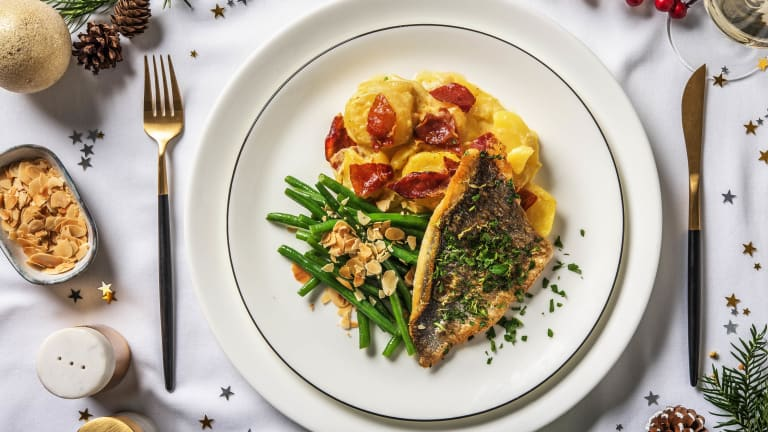 Season's Sea Bream with Golden Gratin