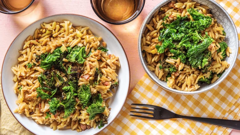 Bacon and Leek Orzotto