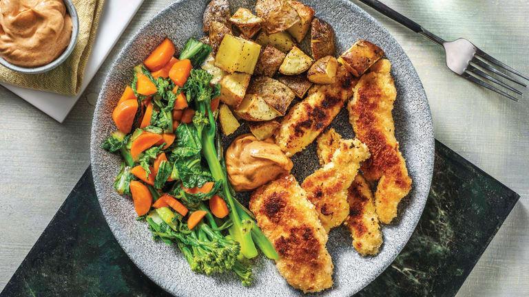 Parmesan-Crumbed Chicken Strips
