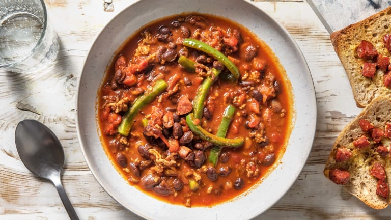 Peri Peri Pork and Blackbean Stew