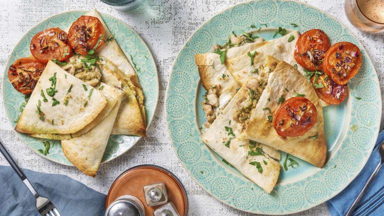 Piadina met kippendijreepjes en mozzarella