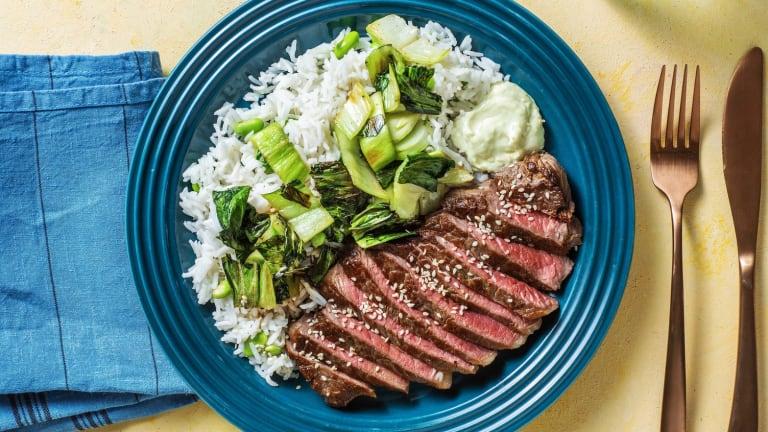 Ponzu-Marinated Steak and Bok Choy