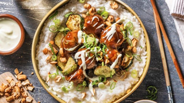 Pork and Wasabi Meatballs