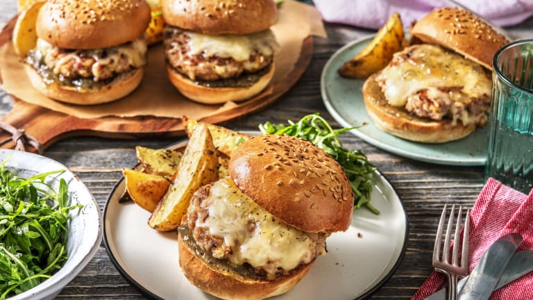 Pork & Apple Burger