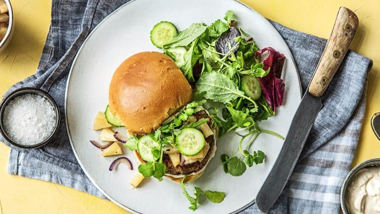 Pork Luau Burgers