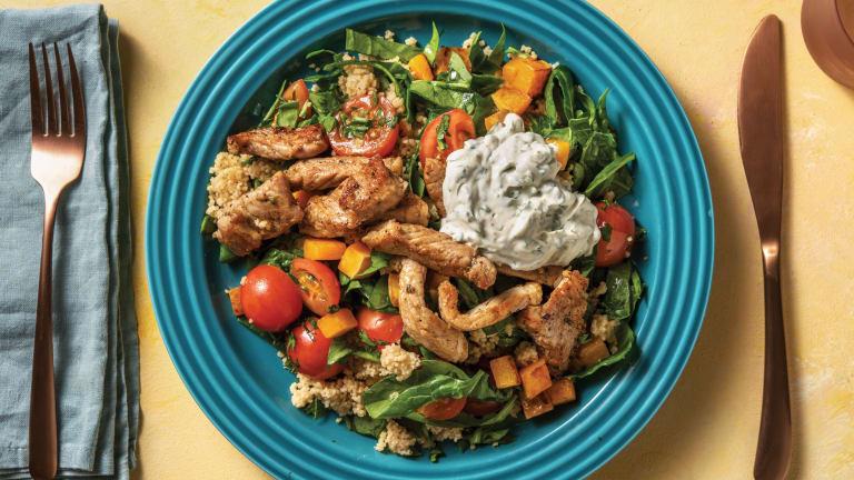 Pork & Veggie Couscous Tabbouleh