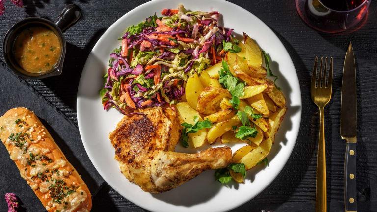 Crispy-Skinned Chicken Dinner