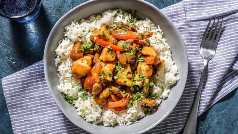 Kip stroganoff met rijst