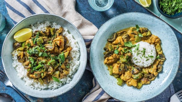 Poulet thaï au curry vert et lait de coco