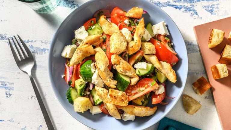 Pouletbrust auf griechischem Salat