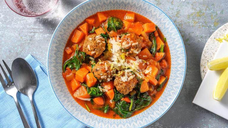 Greek Meatball Stew