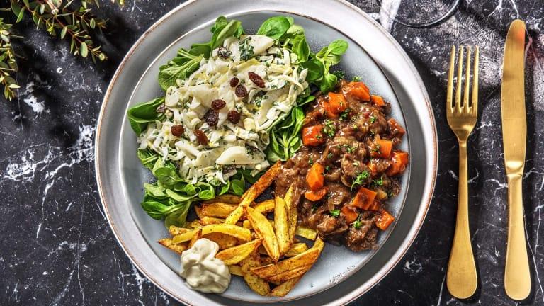 Ragoût de veau & frites maison