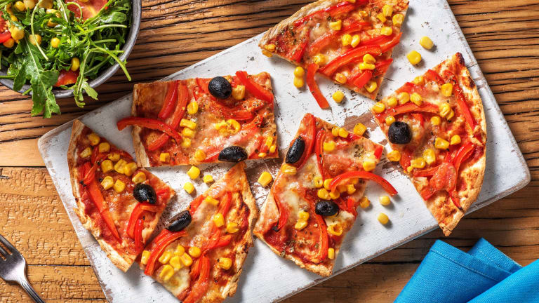 Red Pepper and Sweetcorn Pizza