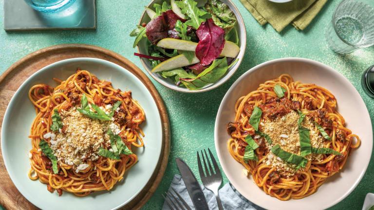 Red Pesto & Chorizo Spaghetti