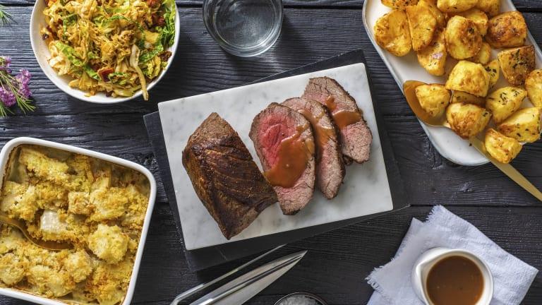 Roast Beef and Redcurrant Gravy