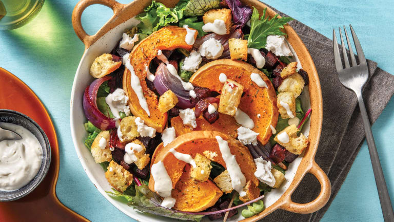 Roast Butternut Pumpkin & Goat Cheese Salad